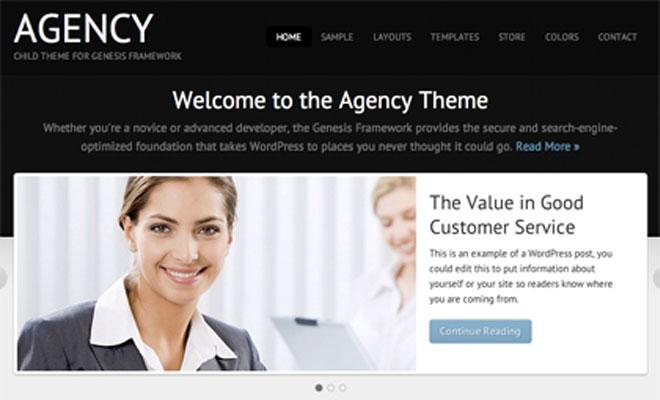 Agency StudioPress Genesis WordPress Child Theme