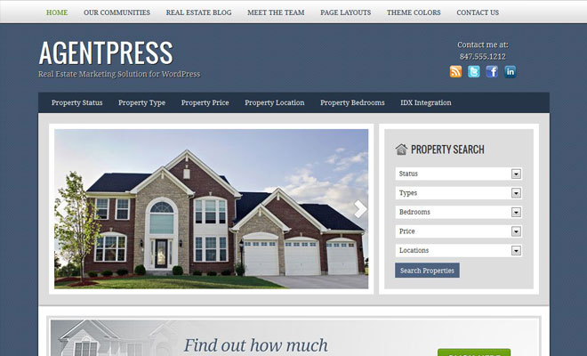 AgentPress StudioPress Genesis WordPress Child Theme