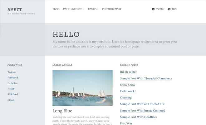 Avett Portfolio Genesis WordPress Child Theme