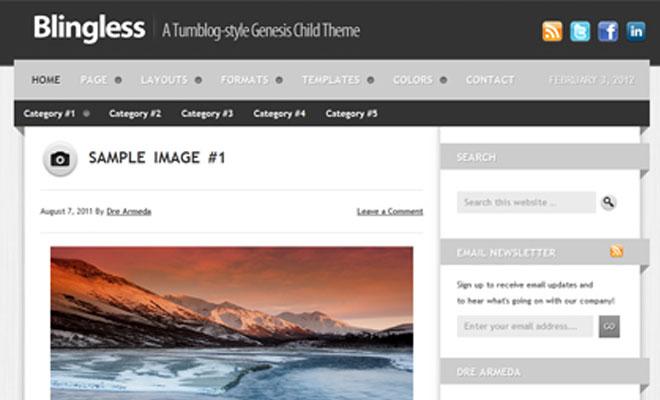 Blingless StudioPress Genesis WordPress Child Theme