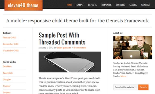 eleven40 StudioPress Genesis WordPress Child Theme