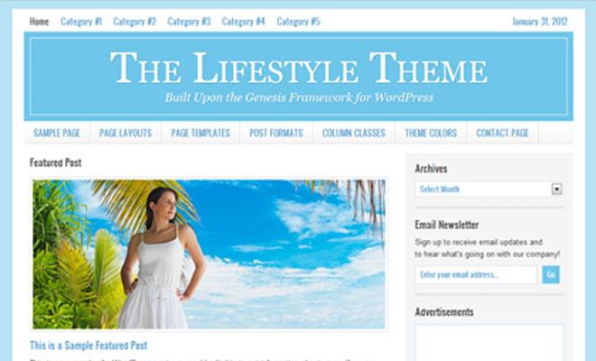 Lifestyle StudioPress Genesis WordPress Child Theme