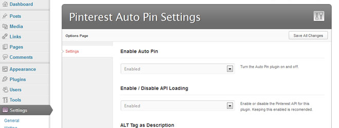 WordPress Pinterest Auto Pin WordPress Plugin