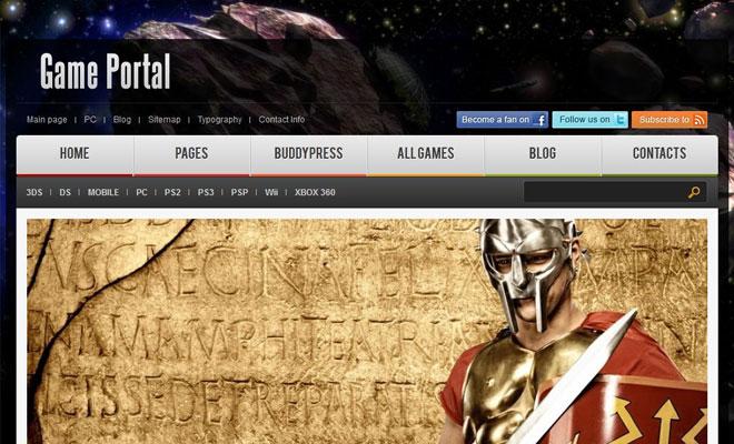 Game Portal WordPress & BuddyPress Themes