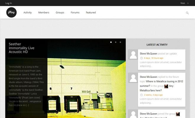 Play WordPress Buddypress Themes for Community Magazines