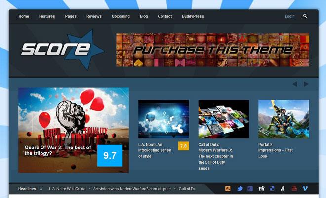 Score Review WordPress & BuddyPress Themes