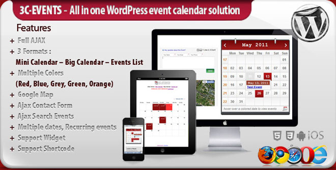3C-Events WordPress All-in-One Event Calendar