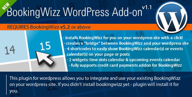 BookingWizz WordPress Calelndar / Booking Plugin