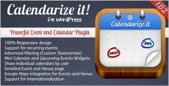 Calendarize it WordPress Plugin