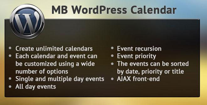 MB WordPress Calendar