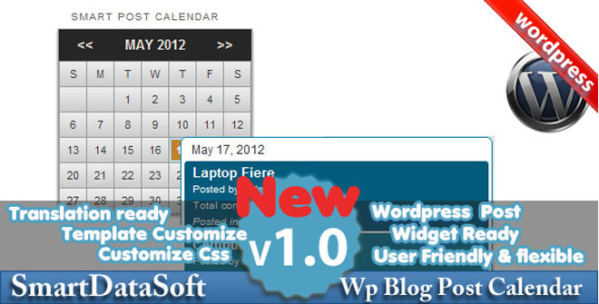 Smart WordPress Blog Post Calendar
