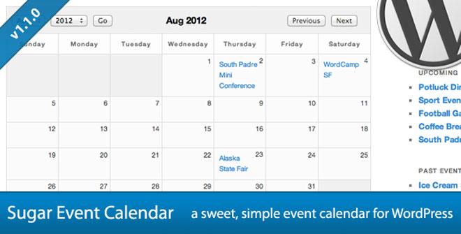 Sugar Event Calendar