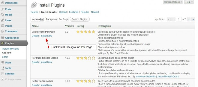 Install WordPress For Background Pre Page Plugin